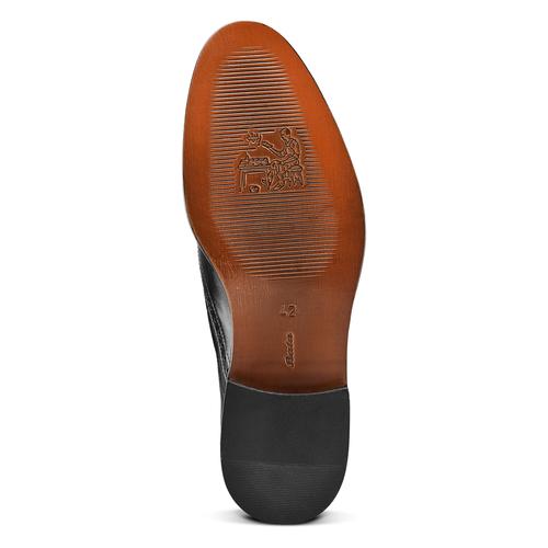 Stringate in pelle con dettagli Brogue bata-the-shoemaker, nero, 824-6342 - 17