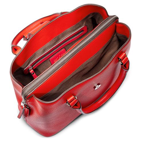 Borsa a mano in similpelle bata, rosso, 961-5216 - 16