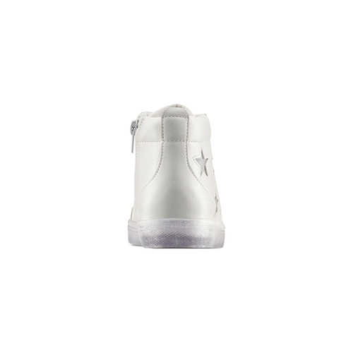 Sneakers alte con stelle mini-b, bianco, 321-1322 - 16