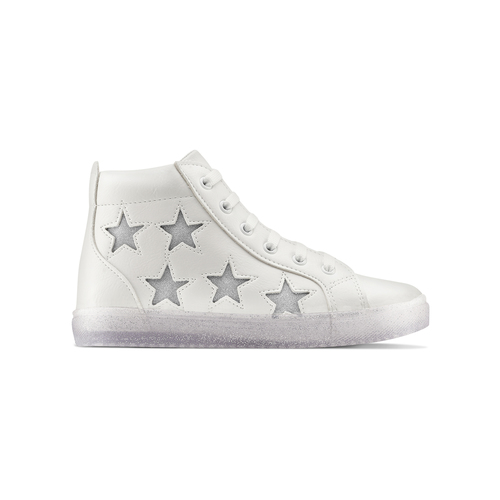 Sneakers alte con stelle mini-b, bianco, 321-1322 - 26