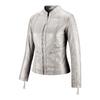 Giacca in pelle da donna bata, grigio, 974-2180 - 16
