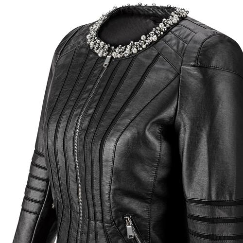 Giacca da donna con perline bata, nero, 971-6214 - 15