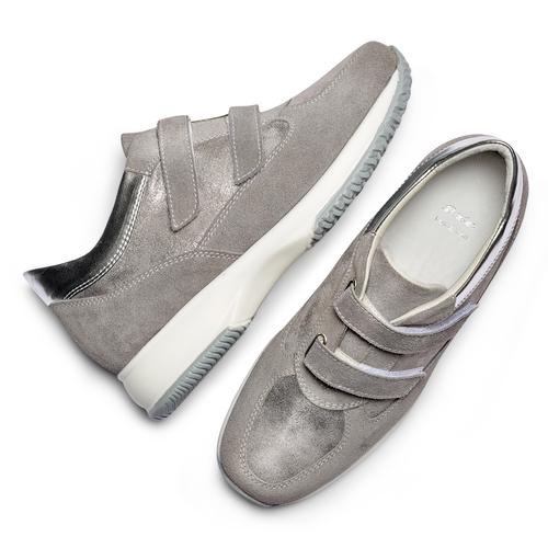 Scarpe casual da donna bata, grigio, 513-2202 - 26