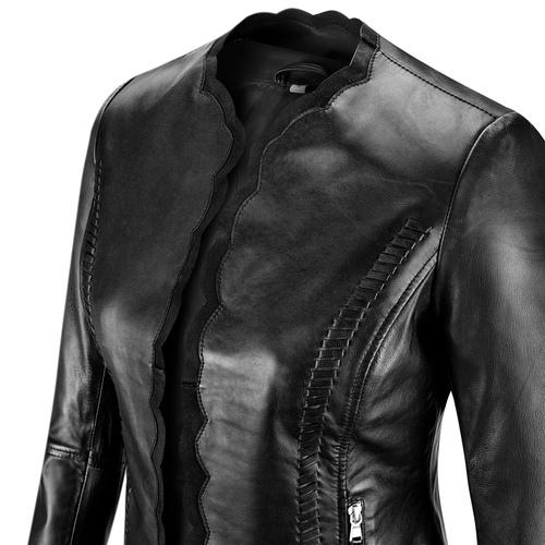 Giacca in vera pelle bata, nero, 974-6179 - 15
