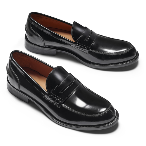 Mocassini in vernice da uomo bata-the-shoemaker, nero, 814-6117 - 19