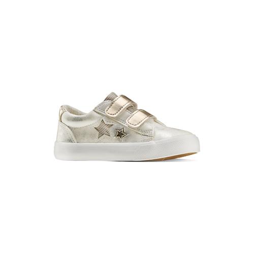 Sneakers basse con stelle mini-b, bianco, 221-1218 - 13