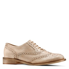 Stringate Brogue in suede bata, beige, 523-8482 - 13