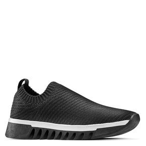 Sneakers senza lacci bata, nero, 539-6113 - 13