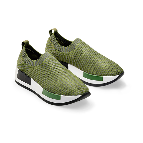 Sneakers Platform bata, verde, 539-7129 - 16