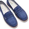 Mocassini da donna in pelle scamosciata bata-touch-me, blu, 513-9181 - 26