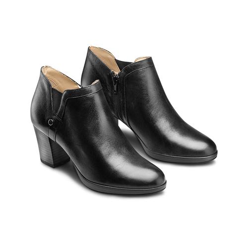 Ankle boots in vera pelle bata, nero, 724-6186 - 16