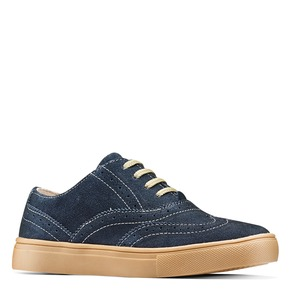 Stringate in suede mini-b, blu, 313-9191 - 13