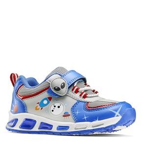 Sneakers da bambino con luci mini-b, blu, 211-9102 - 13
