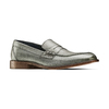Mocassini in vera pelle bata-the-shoemaker, grigio, 814-2129 - 13