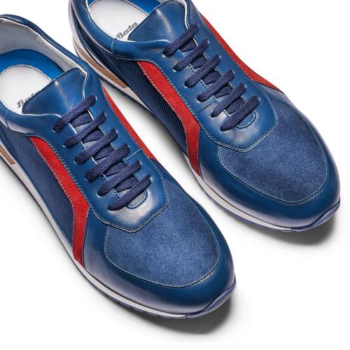 Sneakers in vera pelle da uomo bata, blu, 844-9142 - 26