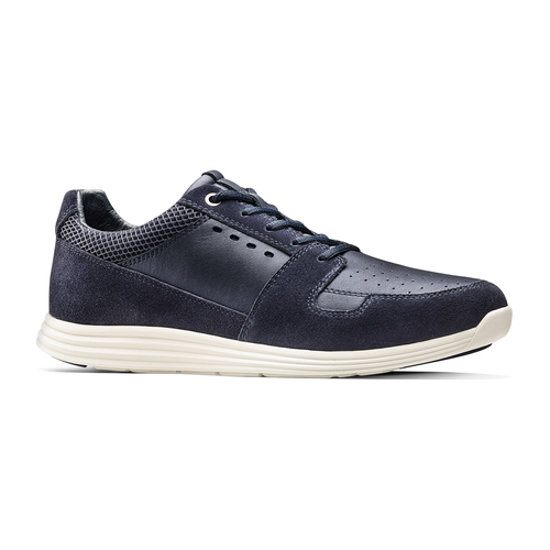 Sneakers in pelle bata-light, blu, 844-9161 - 13