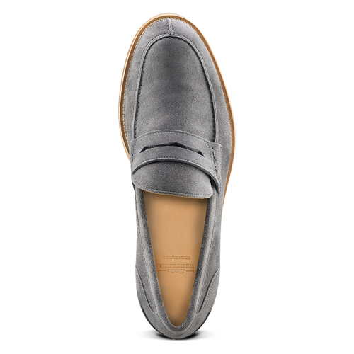 Mocassini in pelle scamosciata bata-the-shoemaker, grigio, 813-2116 - 15