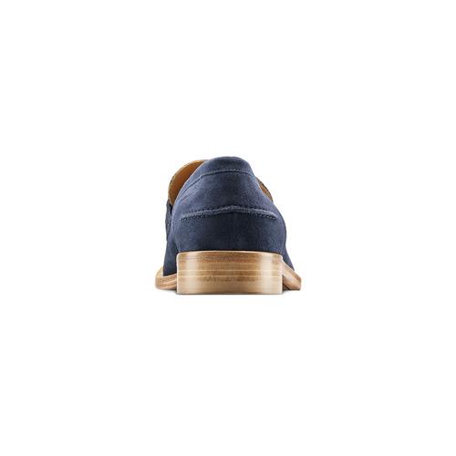 Mocassini in suede bata-the-shoemaker, blu, 813-9116 - 16