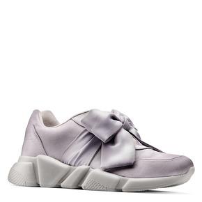 Sneakers con lacci in satin bata, viola, 549-1202 - 13