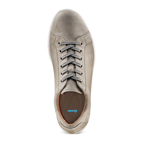Sneakers in nabuk da uomo bata, beige, 846-2183 - 17