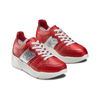 Sneakers Platform in pelle bata, rosso, 624-5158 - 16