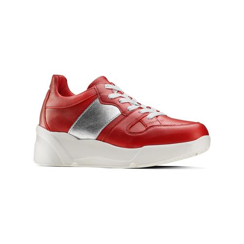 Sneakers Platform in pelle bata, rosso, 624-5158 - 13