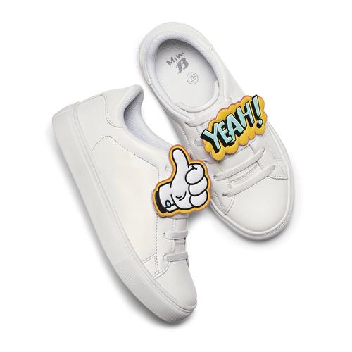 Sneakers con dettagli fumetto mini-b, bianco, 211-1193 - 19