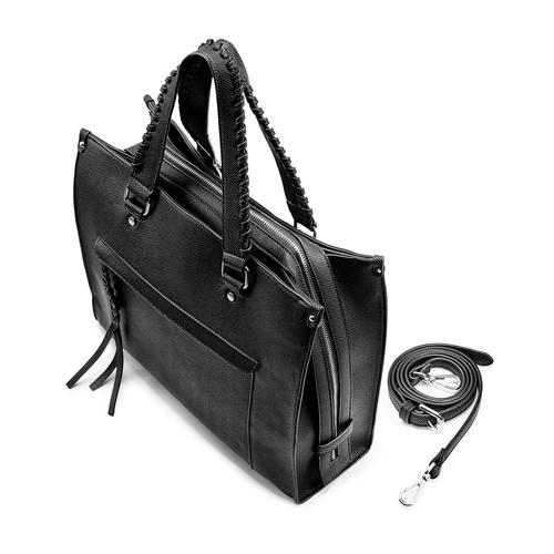 Shopper da donna bata, nero, 961-6238 - 17