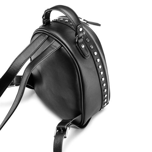 Zainetto con ampia zip bata, nero, 961-6315 - 17