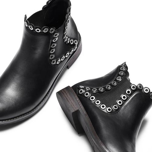 Ankle Boots con occhielli  bata, nero, 591-6806 - 26