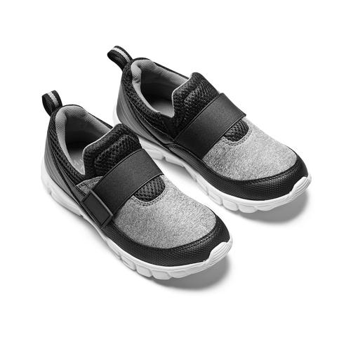 Sneakers da bimbo senza lacci mini-b, nero, 319-6152 - 16