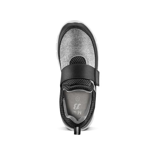 Sneakers da bimbo senza lacci mini-b, nero, 319-6152 - 17
