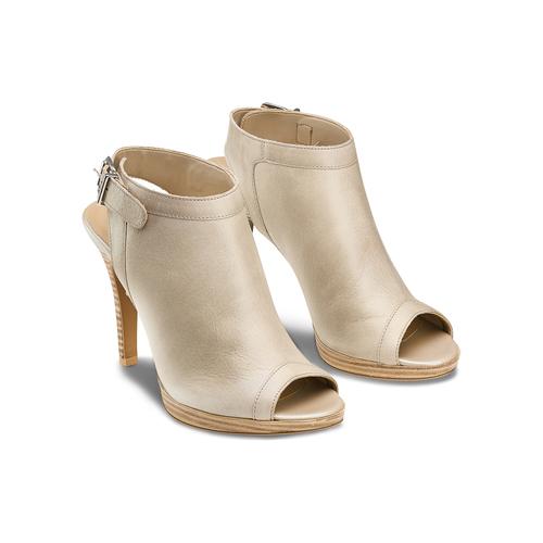 Sandali con tacco alto bata, beige, 724-2187 - 16