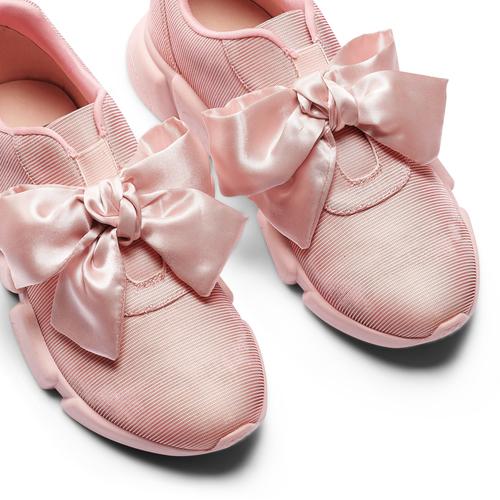 Sneakers rosa con lacci in satin bata, rosa, 549-5202 - 26