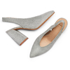 Sling back shoes in suede bata, grigio, 723-2248 - 26