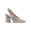 Sling back shoes in suede bata, grigio, 723-2248 - 13