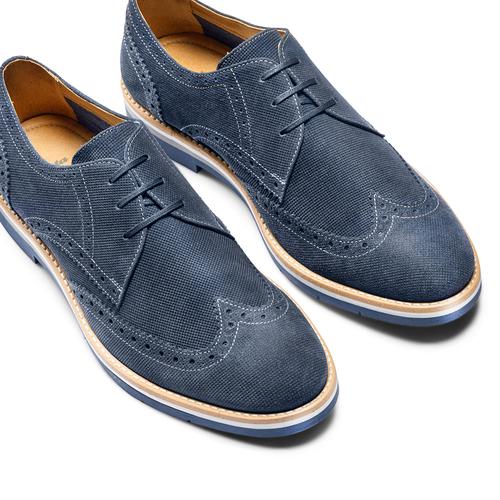 Stringate Brogue da uomo bata, blu, 823-9324 - 26