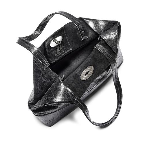 Borsa a spalla in pelle bata, nero, 964-6357 - 16
