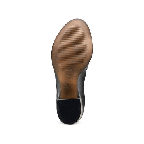 Sandali con effetto arricciato bata, nero, 724-6192 - 19