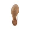 Sandali con effetto arricciato bata, grigio, 724-2192 - 19