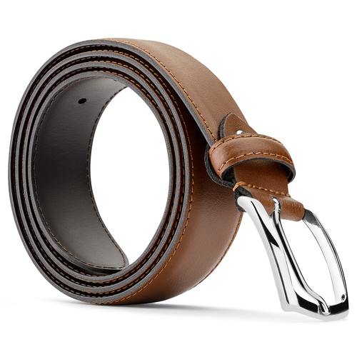 Cintura in vera pelle bata, marrone, 954-3132 - 26