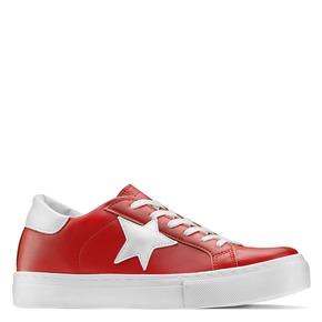 Sneakers con stella bata, rosso, 541-5376 - 13