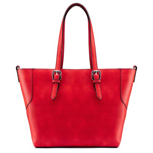 Shopper con trafori bata, rosso, 961-5220 - 26