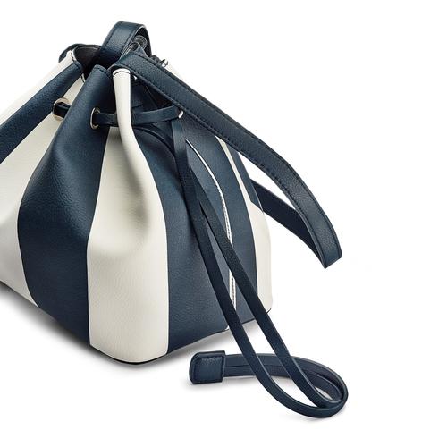 Borsa a secchiello bata, blu, 961-9390 - 15