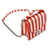 Borsa a righe verticali bata, rosso, 961-5388 - 17