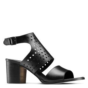 Sandali in pelle bata, nero, 764-6159 - 13
