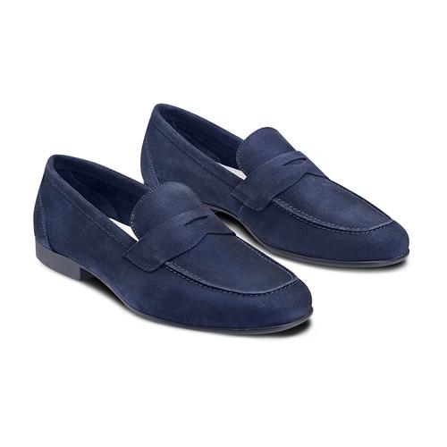 Mocassini in suede flexible, blu, 853-9186 - 16