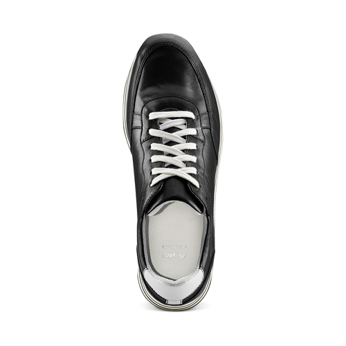 Sneakers platform bata, nero, 644-6102 - 17