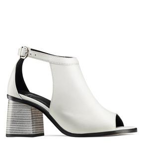 Sandali in pelle bata, bianco, 724-1297 - 13