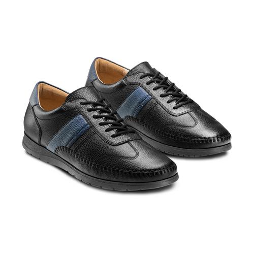 Stringate casual bata-comfit, nero, 854-6115 - 16